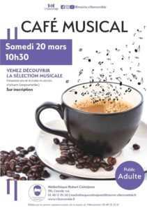 ANNULÉ // Café musical @ Médiathèque Robert Calméjane