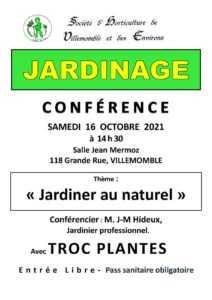 Conférence sur le jardinage par la SHVE @ Médiathèque Robert Calméjane